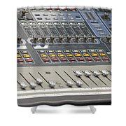 Digital Sound Mixing Console Closeup Shower Curtain