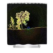 Digital Sunset Shower Curtain