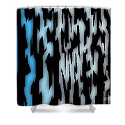Digital Zebra Coat Shower Curtain