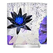 Digitally Altered Water Lily Shower Curtain