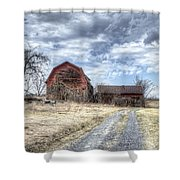 Dilapidated Barn Shower Curtain