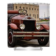 Dillon Montana Vintage Fire Truck Shower Curtain
