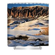 Dillon Pinnacles Sunset Shower Curtain