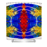 Dimensional Eyesight Abstract Living Artwork By Omaste Witkowski Shower Curtain