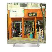 Dimona Latin Quarter Romantic Morning Summer Stroll Pretty Streets Montreal City Scene C Spandau Shower Curtain