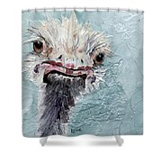 Dimples - An Ostrich Shower Curtain