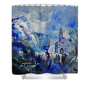 Dinant In Blue Shower Curtain