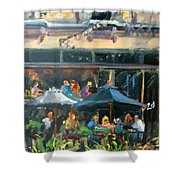 Dine Out On 4th Street Shower Curtain