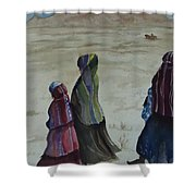 Dineh Leaving The Trading Post Shower Curtain