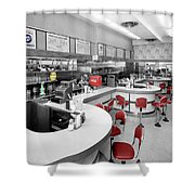 Diner 3 Shower Curtain