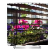 Diner Flowers Shower Curtain