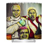 Diners Drive-ins And Fava Beans And Chianti Shower Curtain