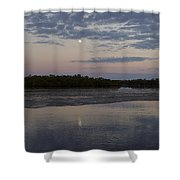 Ding Darling And Moon - 16x42 Shower Curtain