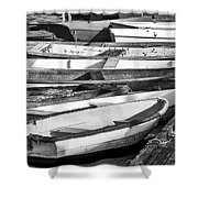 Dinghies - Perkins Cove Maine Shower Curtain