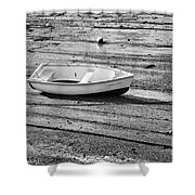 Dinghy At Low Tide Shower Curtain