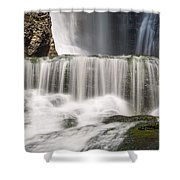 Dingmans Falls Close Up Shower Curtain