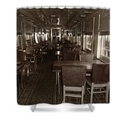 Dining Car Shower Curtain