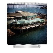Dining On The Bay Shower Curtain