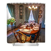 Dining Room And Dinner Table Shower Curtain