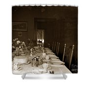 Dining Room Table Circa 1900 Shower Curtain
