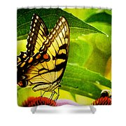 Dining With A Friend Shower Curtain