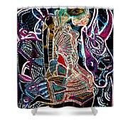 Dinka Bride Shower Curtain by Gloria Ssali