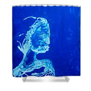 Dinka Painted Lady - South Sudan Shower Curtain