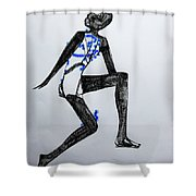 Dinka Silhouette - South Sudan Shower Curtain