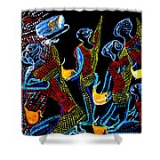 Dinka Wise Virgins Shower Curtain by Gloria Ssali