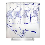 Dinka Wise Virgins -south Sudan Shower Curtain