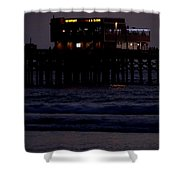 Dinner At The Pier Shower Curtain
