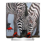 Dinner Guests Shower Curtain