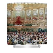 Dinner In The Salle Des Spectacles At Versailles Shower Curtain