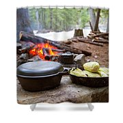 Dinner Is Ready Shower Curtain