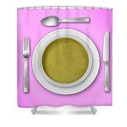 Dinner Setting 03 Shower Curtain