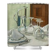 Dinner Table Shower Curtain