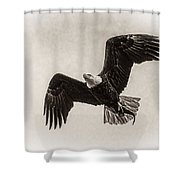 Dinner Time Black And White Shower Curtain