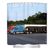 Dinner Time For Truckers Shower Curtain