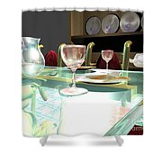 Dinning Table Shower Curtain