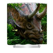 Dino In The Bronx Five Shower Curtain