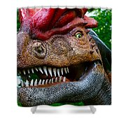 Dino In The Bronx Four Shower Curtain
