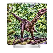 Dino In The Bronx One Shower Curtain