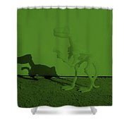 Dino Olive Shower Curtain
