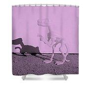 Dino Pink Shower Curtain