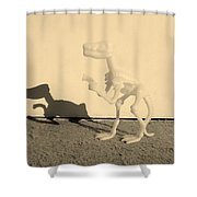 Dino Sepia Shower Curtain