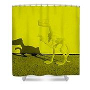 Dino Yellow Shower Curtain