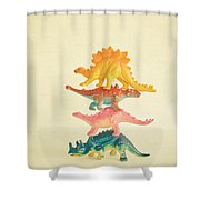 Dinosaur Antics Shower Curtain