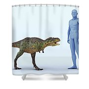 Dinosaur Aucasaurus Shower Curtain