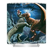 Dinosaur Canyon Shower Curtain