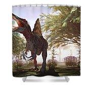 Dinosaur Spinosaurus Shower Curtain